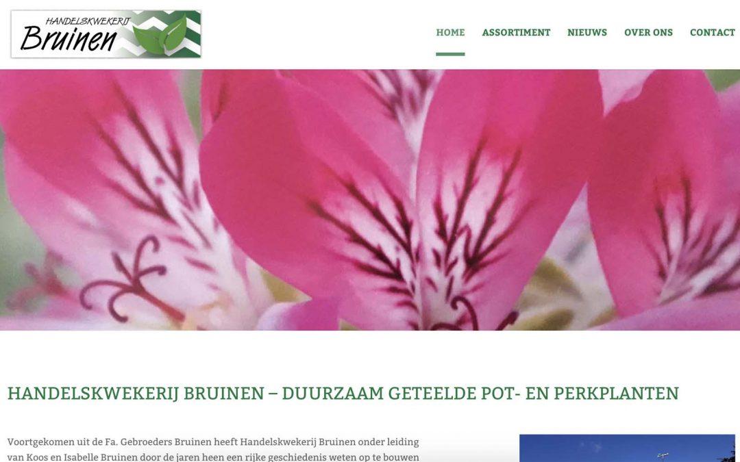 Nieuwe website Handelskwekerij Bruinen